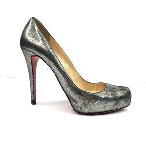 Christian Louboutin authentic heel silver platform
